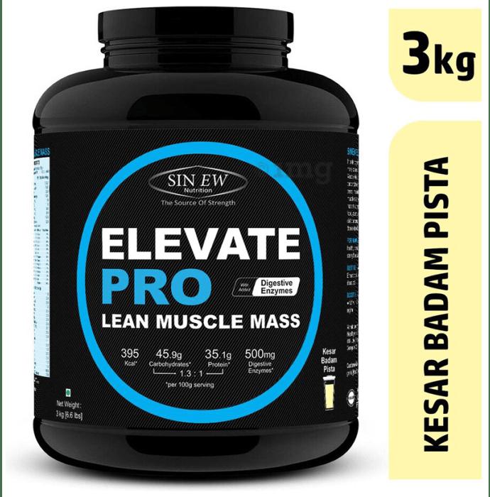 Sinew Nutrition Elevate Pro Lean Muscle Mass Kesar Pista Badam