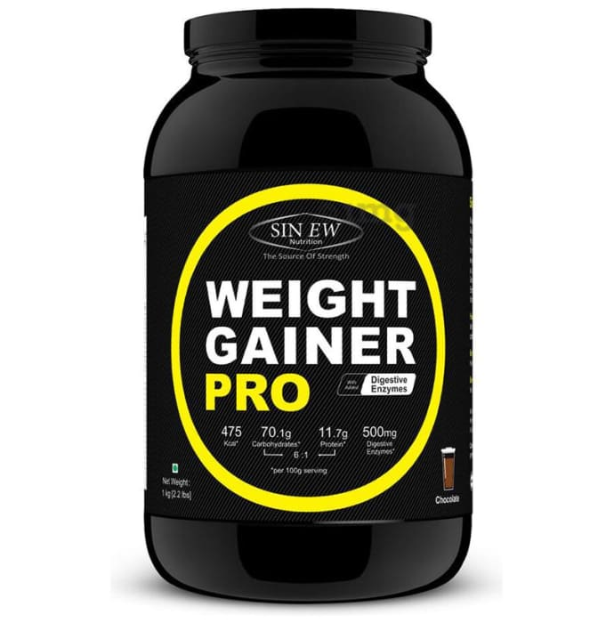 Sinew Nutrition Weight Gainer Pro with Digestive Enzymes Chocolate