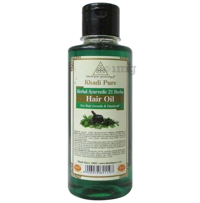 Khadi Pure Herbal Ayurvedic 21 Herbs Hair Oil