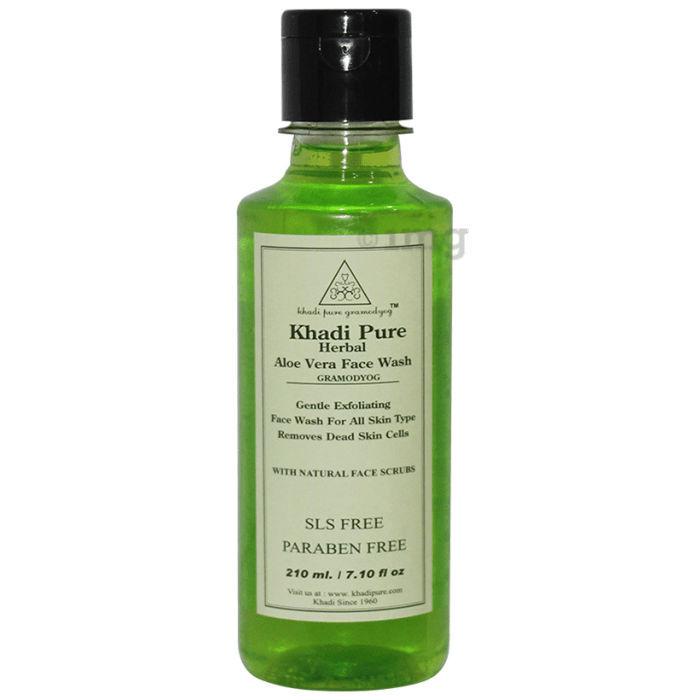 Khadi Pure Herbal Aloe Vera Face Wash SLS-Paraben Free