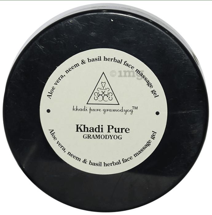 Khadi Pure Herbal Aloe Vera, Neem & Basil Face Massage Gel