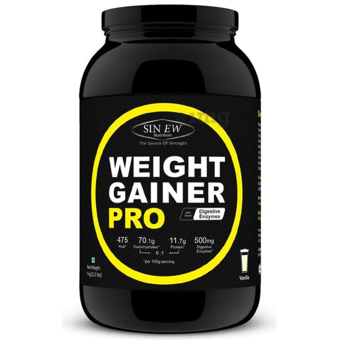 Sinew Nutrition Weight Gainer Pro with Digestive Enzymes Vanilla