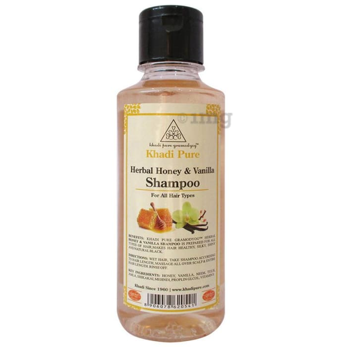 Khadi Pure Herbal Honey & Vanilla Shampoo