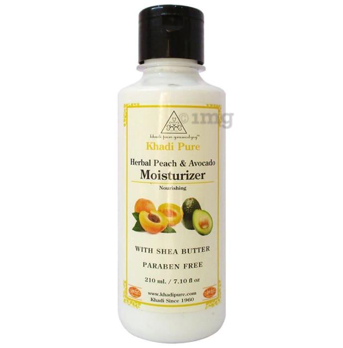 Khadi Pure Herbal Peach & Avacado Moisturizer with Sheabutter Paraben Free