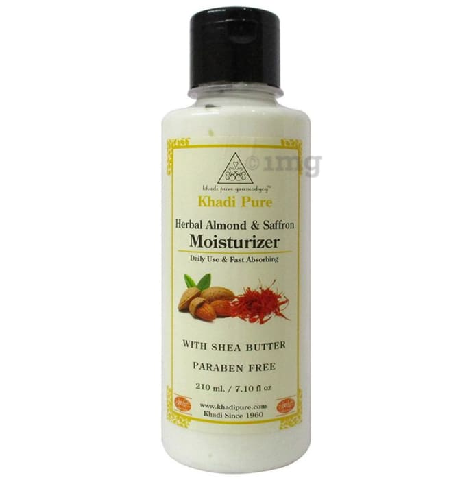 Khadi Pure Herbal Almond & Saffron Moisturizer with Sheabutter Paraben Free
