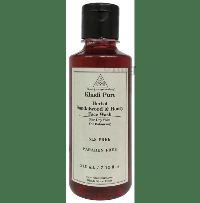 Khadi Pure Herbal Sandalwood & Honey Face Wash SLS-Paraben Free