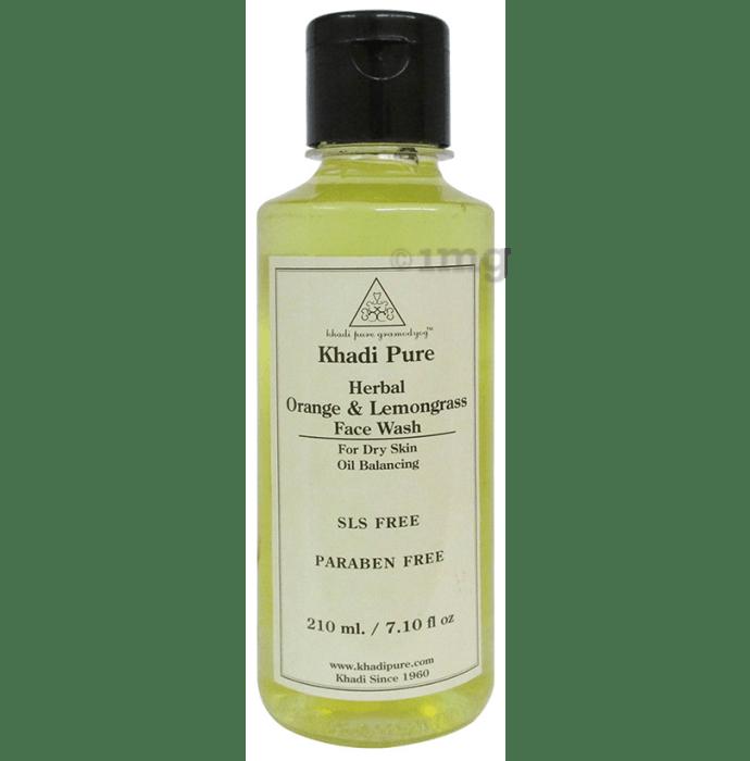 Khadi Pure Herbal Orange & Lemongrass Face Wash SLS-Paraben Free