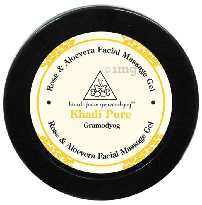 Khadi Pure Herbal Rose & Aloevera Facial Massage Gel