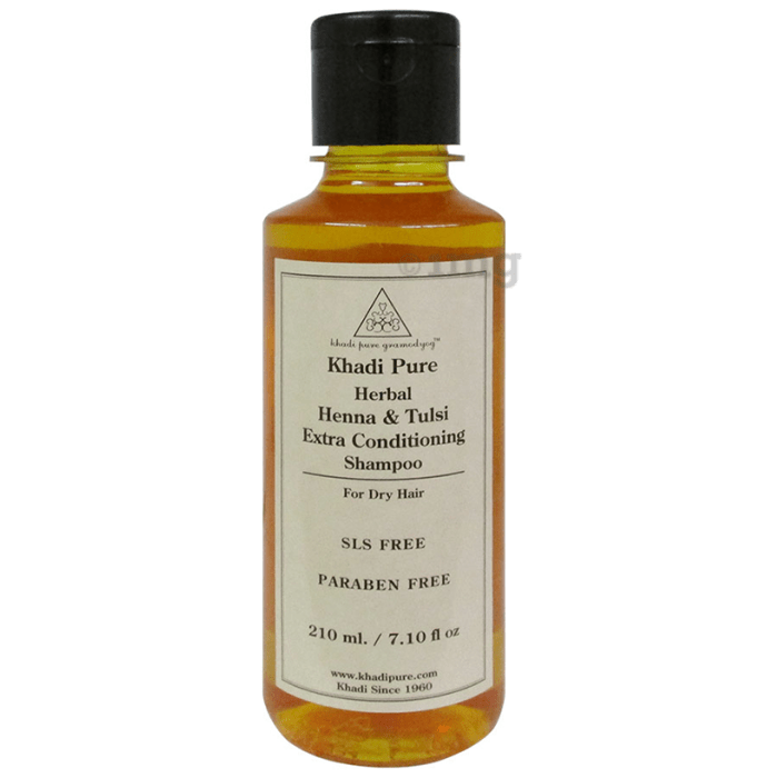 Khadi Pure Herbal Henna & Tulsi Extra Conditioning Shampoo SLS-Paraben Free