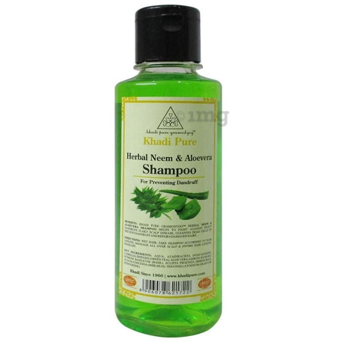 Khadi Pure Neem & Aloevera Herbal Shampoo