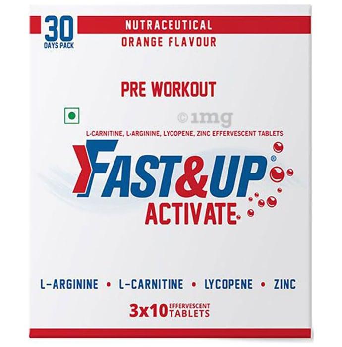 Fast&Up Activate Pre Workout Orange Effervescent Tablet