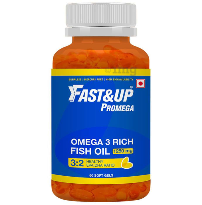 Fast&Up Promega 1250mg Omega 3 Soft Gels Chocolate