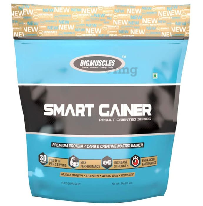 Big  Muscles Smart Gainer Strawberry