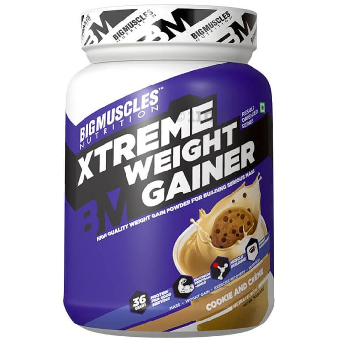Big  Muscles Xtreme Weight Gainer Cookies & Cream