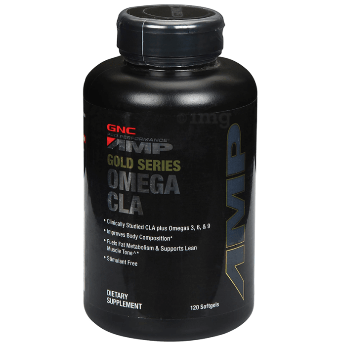 GNC Pro Performance AMP Gold Series Omega CLA Softgels Delicious Strawberry