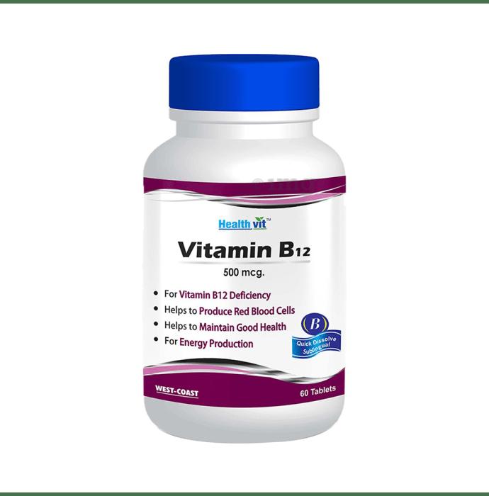 HealthVit Vitamin B12 500mcg Tablet