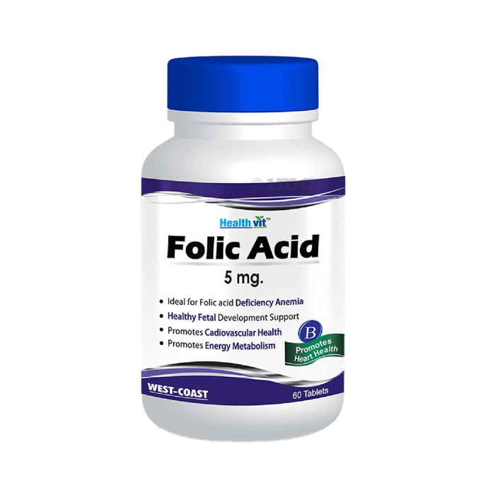 HealthVit Folic Acid 5mg Tablet