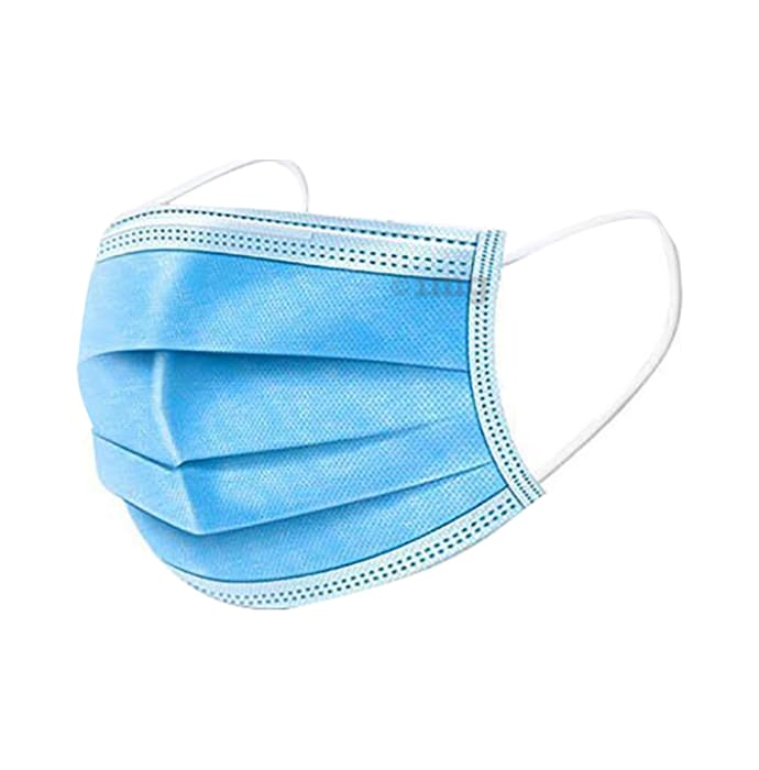 Care View CV 2992M 3 Ply Disposable Protective Mask (50 Each) Universal Blue