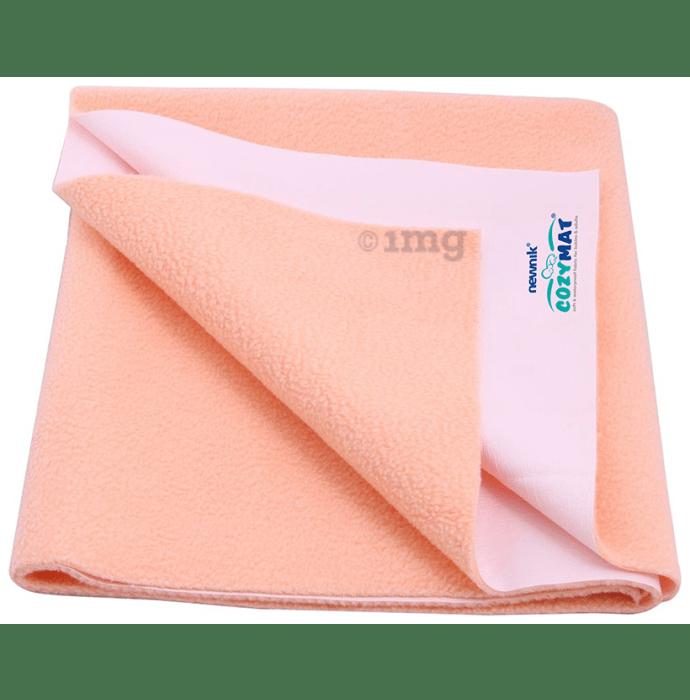 Newnik Cozymat, Dry Sheet (Size: 140cm X 220cm) Single Bed Peach