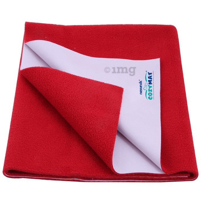 Newnik Cozymat, Dry Sheet (Size: 140cm X 100cm) Large Cherry Red