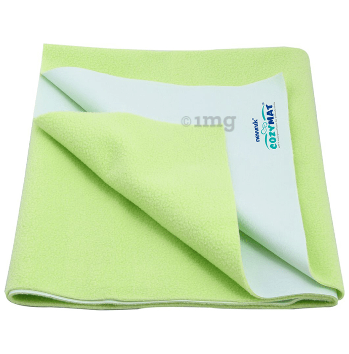 Newnik Cozymat, Dry Sheet (Size: 140cm X 100cm) Large Lemon Green