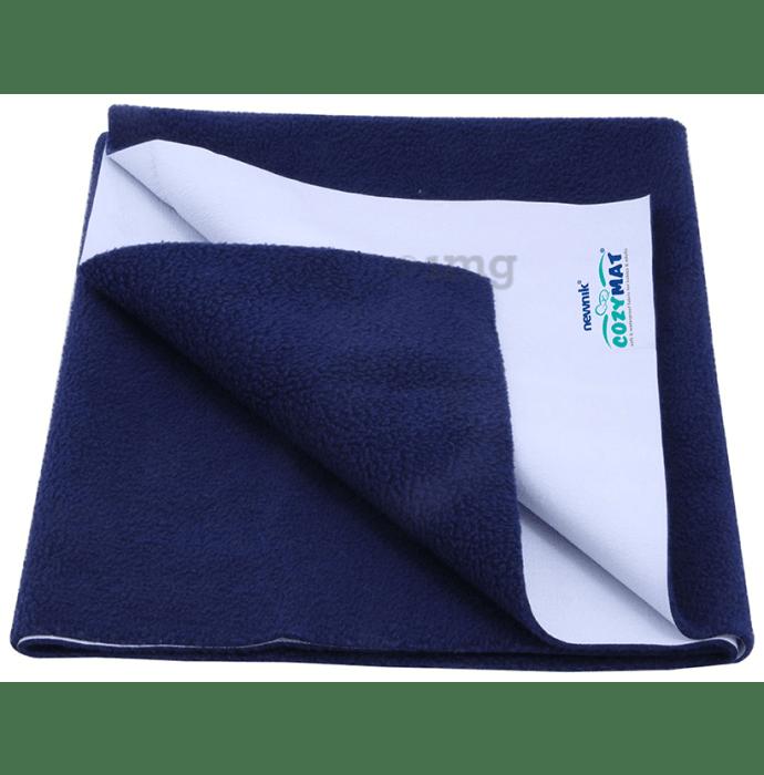 Newnik Cozymat, Dry Sheet (Size: 140cm X 100cm) Large Navy Blue