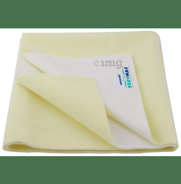 Newnik Cozymat, Dry Sheet (Size: 140cm X 100cm) Large Yellow