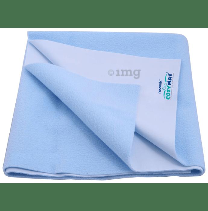 Newnik Cozymat, Dry Sheet (Size: 140cm X 100cm) Large Sky Blue