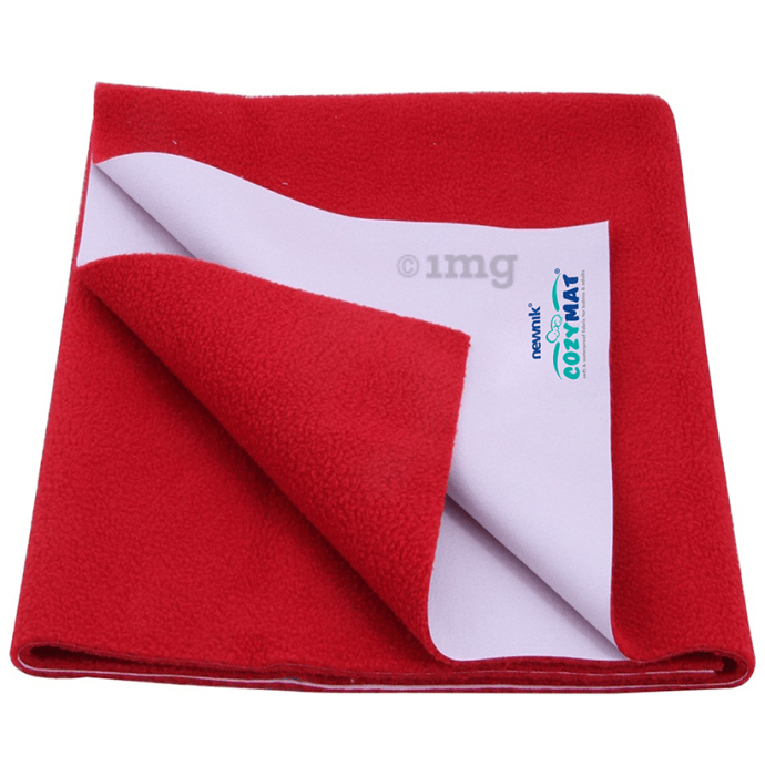 Newnik Cozymat, Dry Sheet (Size: 70cm X 100cm) Medium Cherry Red