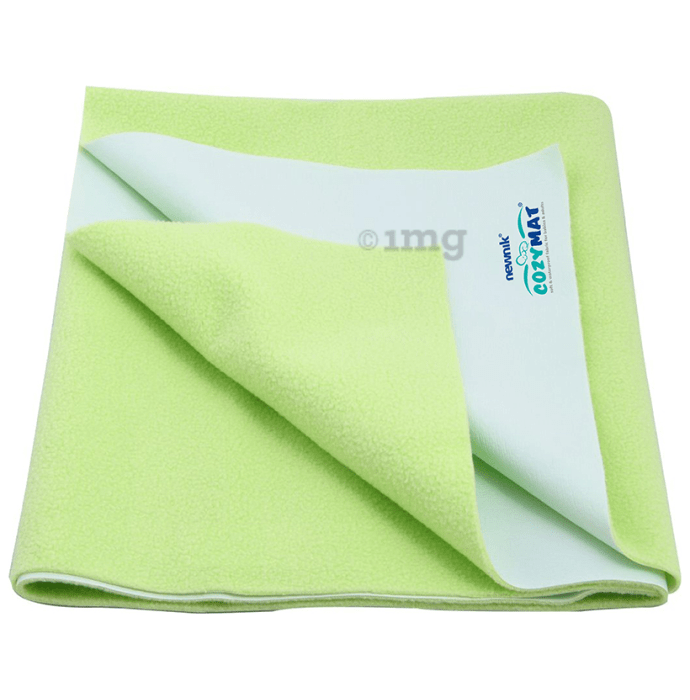 Newnik Cozymat, Dry Sheet (Size: 70cm X 100cm) Medium Lemon Green