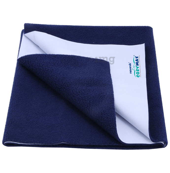 Newnik Cozymat, Dry Sheet (Size: 70cm X 100cm) Medium Navy Blue