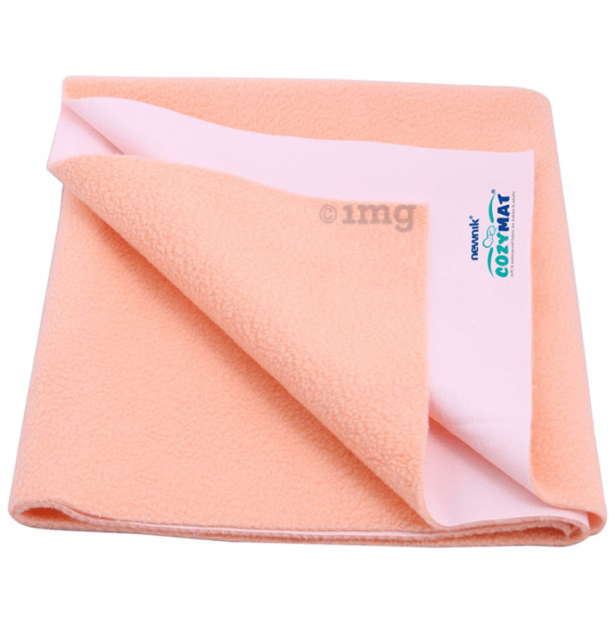 Newnik Cozymat, Dry Sheet (Size: 70cm X 100cm) Medium Peach