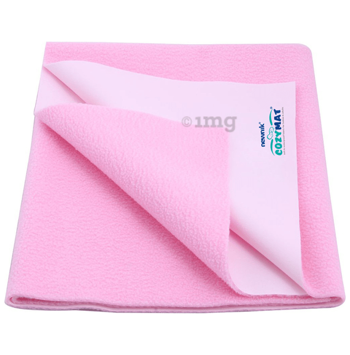 Newnik Cozymat, Dry Sheet (Size: 70cm X 100cm) Medium Pink