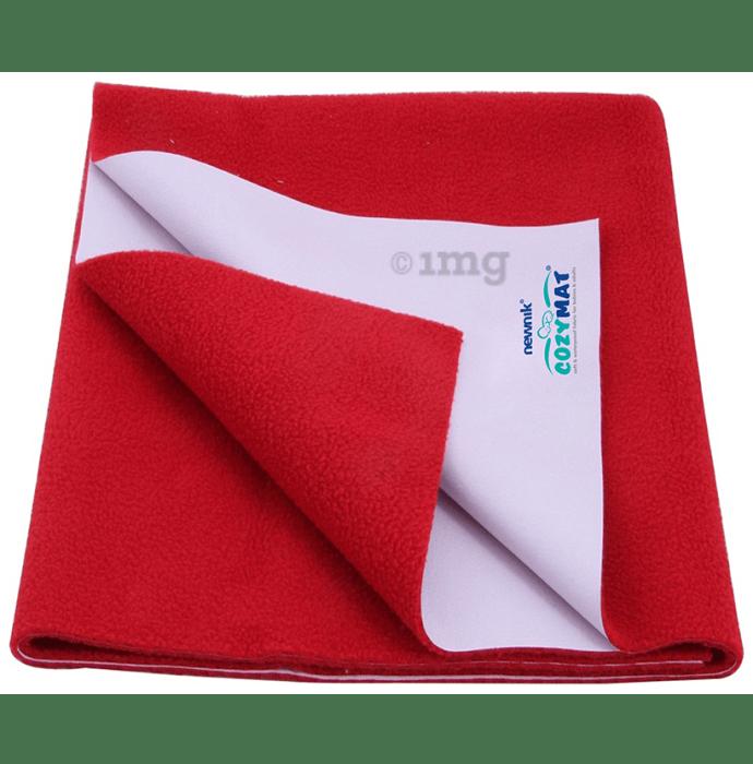 Newnik Cozymat, Dry Sheet (Size: 70cm X 50cm) Small Cherry Red