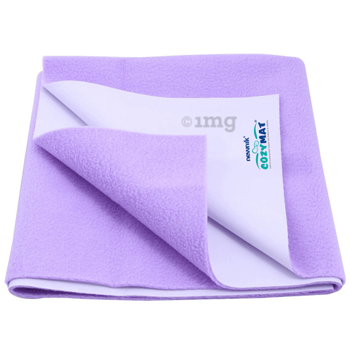 Newnik Cozymat, Dry Sheet (Size: 70cm X 50cm) Small Purple