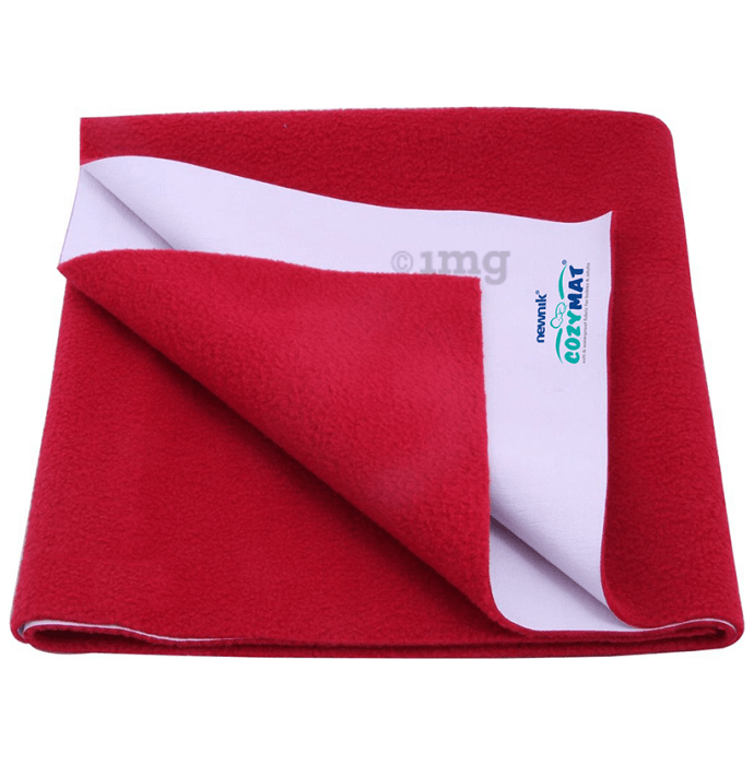 Newnik Cozymat, Dry Sheet (Size: 70cm X 50cm) Small Maroon