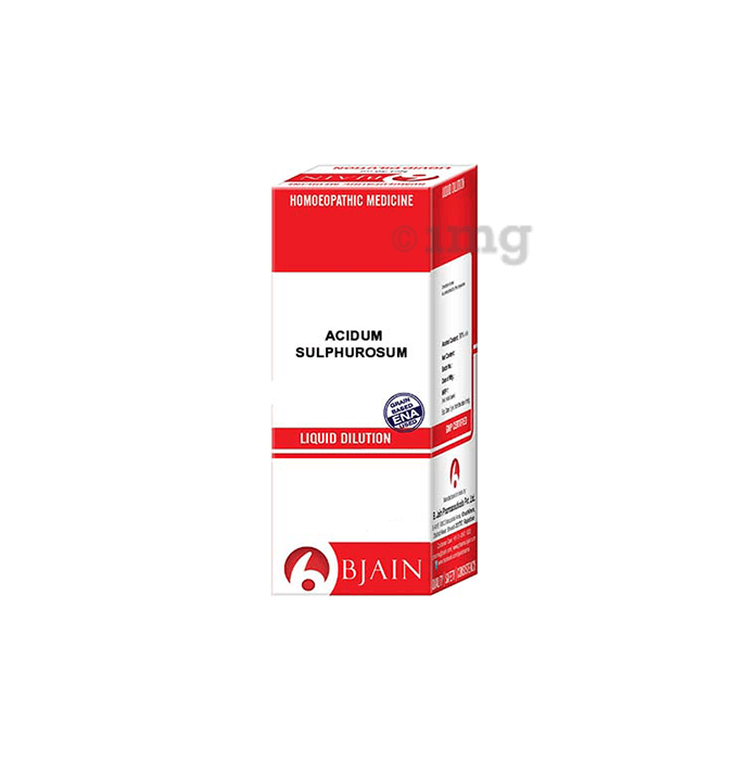 Bjain Acidum Sulphurosum Dilution 6 CH
