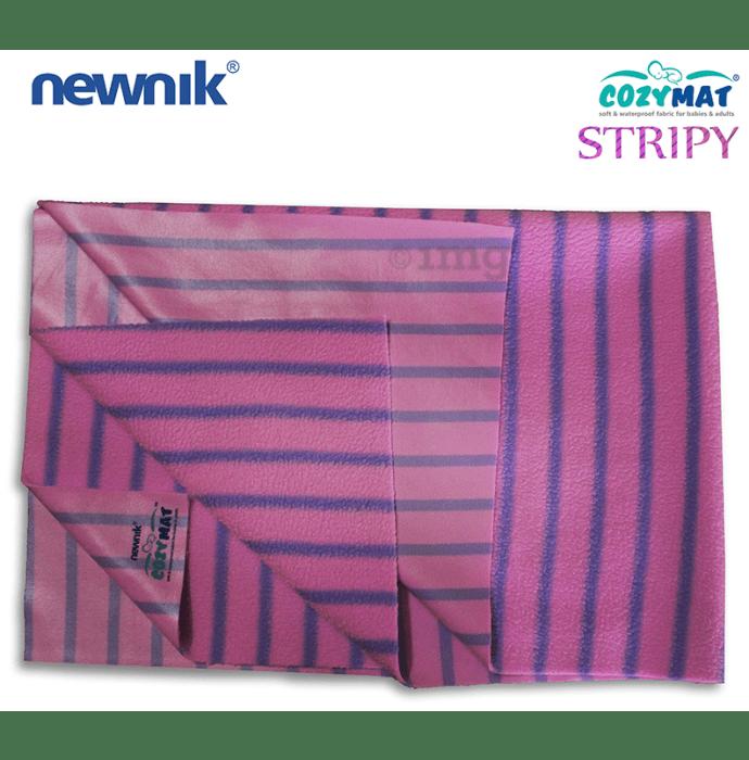 Newnik Cozymat Stripy Soft (Broad Stripes) (Size: 50cm X 70cm) Small Lavender