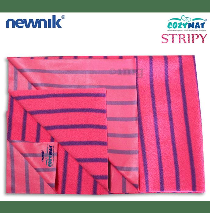 Newnik Cozymat Stripy Soft (Broad Stripes) (Size: 50cm X 70cm) Small Flamingo