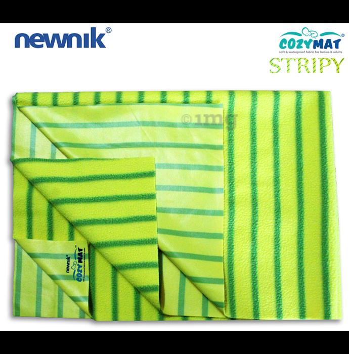 Newnik Cozymat Stripy Soft (Broad Stripes) (Size: 50cm X 70cm) Small Green Apple