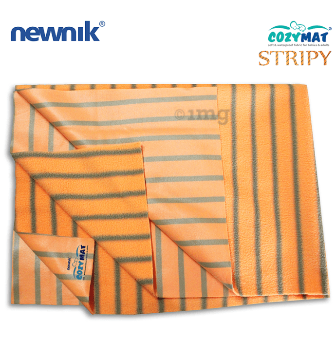 Newnik Cozymat Stripy Soft (Broad Stripes) (Size: 50cm X 70cm) Small Butterscotch
