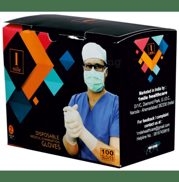 1Mile Disposable Medical Examination Glove Medium