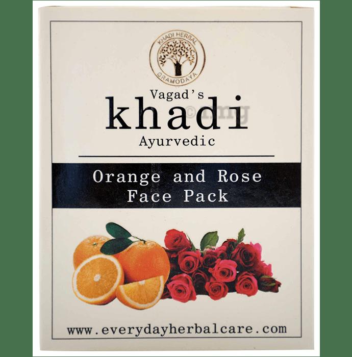 Vagad's Khadi Orange & Rose Face Pack Powder