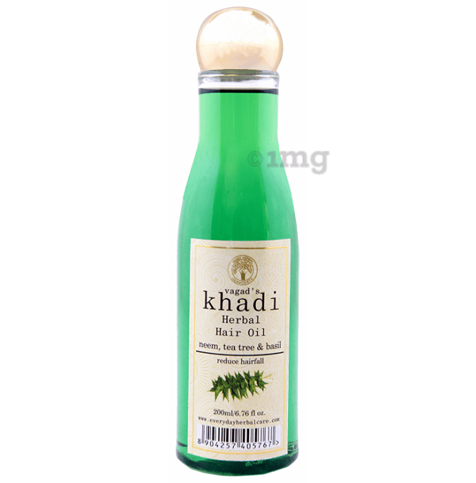 Vagad's Khadi Neem, Tea Tree and Basil Hair Oil
