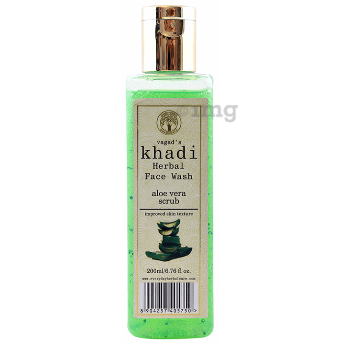 Vagad's Khadi Aloe Vera Scrub Herbal Face Wash