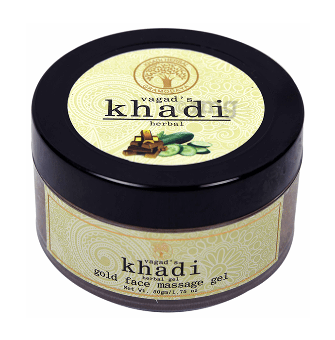 Vagad's Khadi Herbal Gold Face Massage Gel