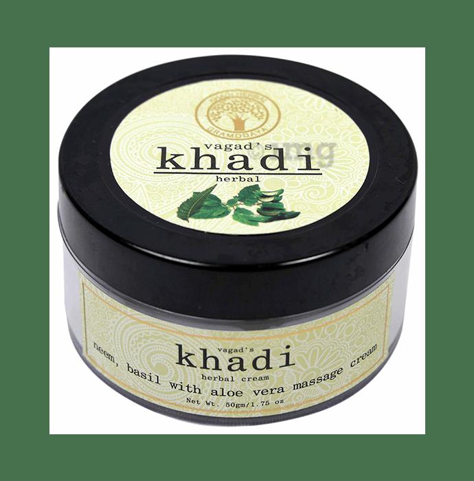 Vagad's Khadi Herbal Neem, Basil with Aloevera Massage Cream