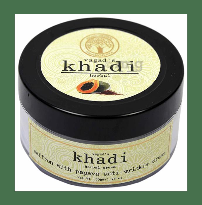 Vagad's Khadi Herbal Saffron with Papaya Anti Wrinkle Cream