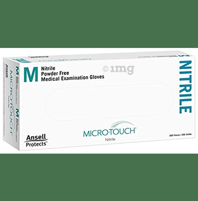 Ansell Micro-Touch Nitrile Powder Free Medical Examination Gloves Medium