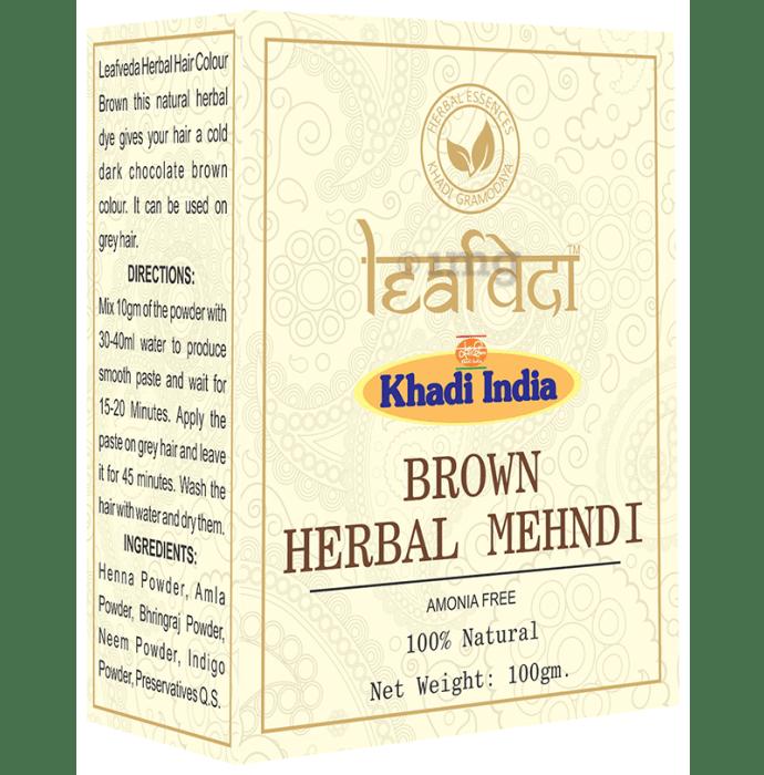 Khadi Leafveda Herbal Mehndi (Amonia Free) Brown
